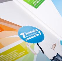 Avanzada 7. Diseño dosier corporativo. . Um projeto de Ilustração, Design editorial e Design gráfico de Plan D Creativos         - 09.02.2012