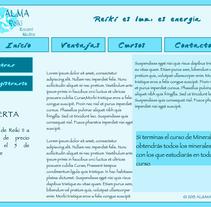 """Web Mobile """"Al&Ma Reiki """". Um projeto de Design e Design gráfico de Noelia Díaz Medina         - 29.09.2013"""