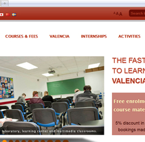 Spanish In Valencia. Um projeto de Web design e Desenvolvimento Web de Gema R. Yanguas Almazán         - 02.10.2011