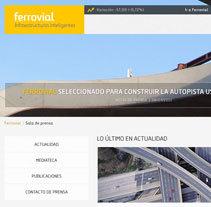Ferrovial - Sala de prensa. A Web Development project by Jesús Álvaro Rodríguez - 08-06-2014