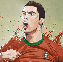 Stars World Cup 2014. A Illustration, Art Direction, and Graphic Design project by Fer Taboada         - 09.06.2014