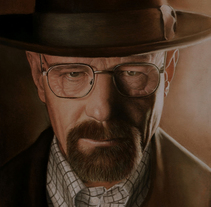 Walter White (Bryan Cranston) Retrato. A Fine Art, and Painting project by Adrián Durá Reina - 21-05-2014