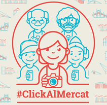 #ClickAlMercat. A Illustration, Advertising, Character Design, Vector illustration, Icon design, and Pictogram design project by Gong         - 20.01.2017