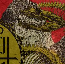 MONARCH + HIPOXIA | poster. Un proyecto de Diseño, Ilustración, Publicidad y Diseño gráfico de alejandro escrich - 23-01-2014