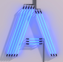 ABCD.... Un proyecto de 3D, Dirección de arte, Tipografía y Escritura de Eduardo Pérez Borrachero  - 03-07-2014