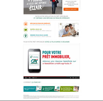 Campagne Crédit Agricole. Um projeto de Web design de Laure Chassaing         - 21.07.2014