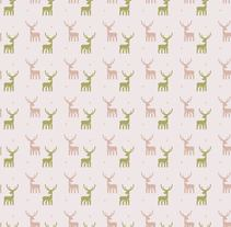Deers pattern. A Illustration, and Graphic Design project by Laura Liberal         - 23.07.2014