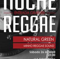Cartel Noche Reggae. A Graphic Design project by Lucía López Fraga         - 06.08.2014