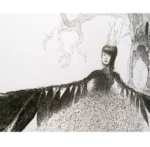 La Reina de las Aves. A Illustration project by Kodomos Ilustrador         - 04.09.2014
