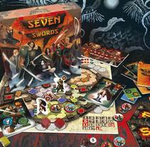 Seven Swords - Diseño y producción de juego de mesa. A Design, Art Direction, Packaging, and Product Design project by Alberto González          - 05.09.2014