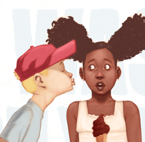 It was only a kiss. A Illustration project by Alexander  Grahovsky - Sep 22 2014 12:00 AM