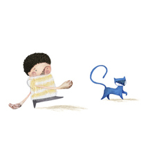 Un gato. A Illustration project by Nuria  Balaguer - Nov 01 2011 12:00 AM
