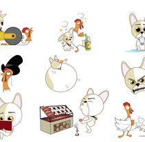 Stickers para app Tellmi. A Design, Illustration, and Character Design project by Alfonso Rosso         - 08.10.2014