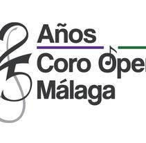 Logotipo Coro de Ópera de Málaga (25 aniversario). Un proyecto de Diseño, Br, ing e Identidad y Marketing de Javier Díaz González - 13-10-2014