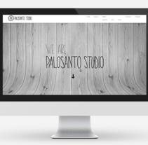 Logo + Web Palosanto Studio. Un proyecto de Diseño, Dirección de arte, Br, ing e Identidad y Diseño Web de Holy Hole Studio         - 29.10.2014