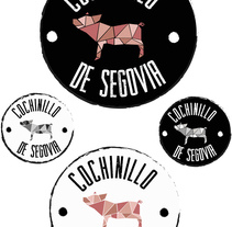 Propuesta de logotipo para Cochinillo de Segovia. A Design, Advertising, Art Direction, Br, ing, Identit, and Graphic Design project by Cristina  Romano Rodriguez - 20-10-2014