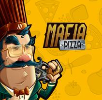 Mafia pizza!!. Um projeto de Ilustração, Direção de arte, Br, ing e Identidade e Design de personagens de Jimmy Cudriz         - 18.10.2014