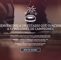 47millonesdecampeones. A Software Development, UI / UX, Br, ing, Identit, Web Design, and Web Development project by Fernando Morales Roselló          - 03.11.2014