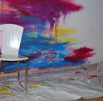 MURAL : Paradise. Um projeto de Ilustração, Motion Graphics, Artes plásticas, Pintura e Design de cenários de Lara Gombau         - 26.11.2014
