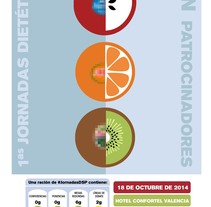 """Cartel """"I Jornadas Dietética Sin Patrocinadores"""" . Um projeto de Design gráfico de Elena Cabezas Alcalá         - 14.12.2014"""