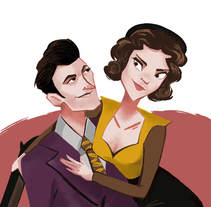 Bonnie & Clyde. Illustration.. A Illustration, and Character Design project by Paloma García de Soria Lucena         - 15.12.2014