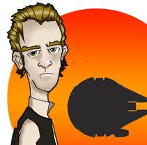 Han Solo. A Illustration project by Jaime Lopez Boyero         - 15.12.2014