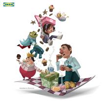 """La Otra Navidad. Campaña Ikea'14  GANADORA DEL PREMIO """"El Chupete"""" (2015) premios Cine-TV y página web.. Un proyecto de Ilustración de Montse Casas Surós - 09-12-2014"""