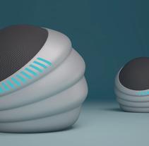 Diseño conceptual. Altavoz BioFuturista.. A 3D, and Product Design project by Luis Gómez Ricart         - 30.11.2012