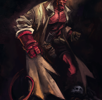 HELLBOY . A Illustration project by Easy Ramos         - 17.12.2014