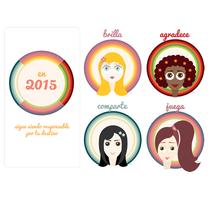 """""""Calendario de Muñecas"""" de Ilustrando el Tiempo. Un proyecto de Ilustración, Diseño de personajes y Diseño gráfico de Mafer E. Gomez - 05-01-2015"""