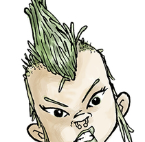 Pin Punk. A Illustration project by Jaime Lopez Boyero         - 12.01.2015