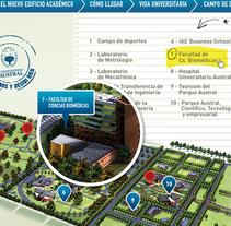 Landing Page - Universidad Austral -. Um projeto de Design de Leticia Rojo         - 31.01.2015