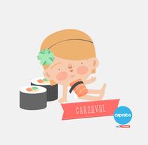 Minidisfraces de Carnaval. Un proyecto de Ilustración de Laura Carreira Vidal - 11-02-2015