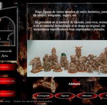 Web Presentación en flash: escultura y artesanía. Um projeto de Web design de Moisés Alcocer - 19-02-2015