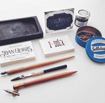 Business Cards. Un proyecto de Caligrafía y Diseño gráfico de Joan Quirós - Martes, 24 de febrero de 2015 00:00:00 +0100