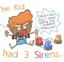 El niño tenía 3 sirenas. Un proyecto de Ilustración, Diseño editorial y Comic de Álvaro Garrido Reyes         - 14.10.2014