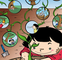 Un Árbol, una vida.. Um projeto de Ilustração de Damián Díaz         - 06.03.2015