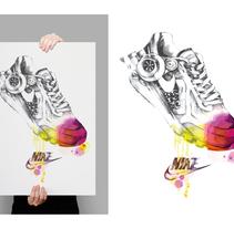 Mi propio proyecto de zapatos deportivos. A Illustration project by Olga Valeeva         - 04.02.2015