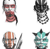 Warrior concept. A Illustration project by Cristian Kocak         - 13.03.2015