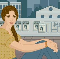 """Versión moderna de """"La Buenaventura""""  . Un proyecto de Bellas Artes, Diseño gráfico e Ilustración de Lisa Fernández Karlsson - Domingo, 22 de marzo de 2015 00:00:00 +0100"""