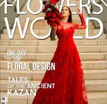 Tapa de revista de Flowers World . A Photograph project by Leonardo Sandoval         - 19.08.2015
