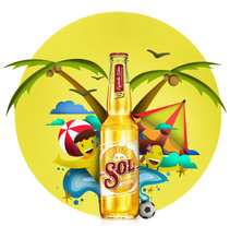 Mi Proyecto del curso de Cerveza Sol. A Design&Illustration project by Carlos Fonseca         - 30.03.2015