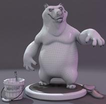 OSO EN BATIN .Modelado de personaje 3ds max .. Un proyecto de Ilustración, 3D, Animación, Bellas Artes y Escultura de laurrakamadre.com  - 06-04-2015
