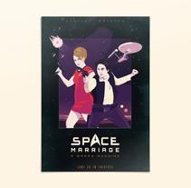 Space Marriage, una boda a warp 3. Un proyecto de Ilustración, Diseño gráfico y Packaging de Juanma Martínez  - 30-04-2015