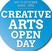 Creative Arts Open Day Poster '14. Un proyecto de Publicidad, Eventos y Diseño gráfico de Maite Forcadell - 03-05-2015
