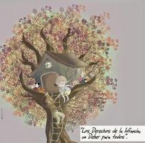 Poster para el Día Universal de los derechos de la infancia. Um projeto de Ilustração e Design gráfico de Almudena Cardeñoso         - 04.05.2015