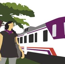 Campaña Renfe Cercanías. Promoción trayecto Alicante - Campus Universitario. Um projeto de Design gráfico de Africa Torres         - 12.05.2008