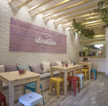 ALMALIBRE - AÇAÍ BAR. Un proyecto de Diseño, Arquitectura, Bellas Artes, Arquitectura interior y Diseño de interiores de elaticointeriorismo  - 19-05-2015