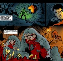 """Tira para """"La Máquina del Tiempo"""" (Cómic colectivo de la asoc. Extrebeo). Un proyecto de Comic de Alberto Peral Alcón         - 27.05.2015"""