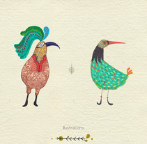 Ilustraciones acuarela. A Illustration, and Character Design project by Beatriz Ramos Tovar         - 29.05.2015